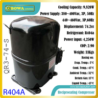 3TR cooling capacity 3phase, R404a reciprocating compressors working as refrigeration engine of cold room or foodstuff storages
