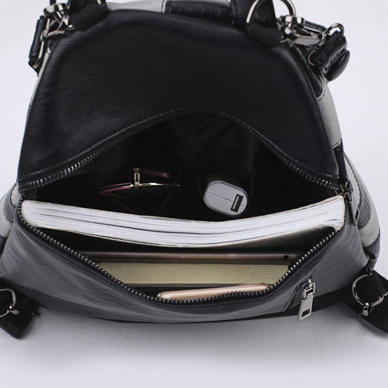 MLITDIS chapeau forme femmes voyage sac à dos pour adolescent motif zèbre sacs à bandoulière personnalité noir blanc rayé sac à dos nouveauté - 6