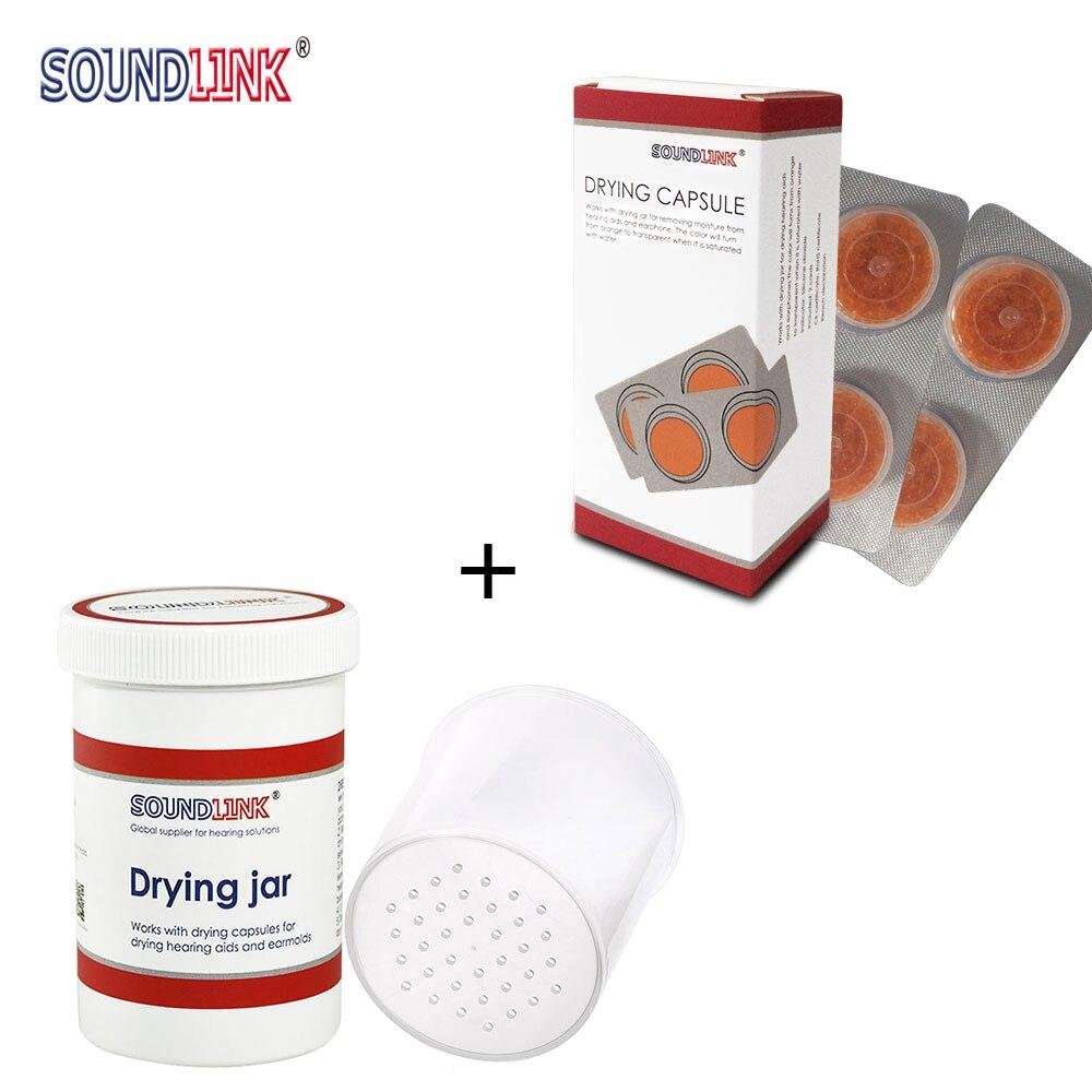 Hörgerät Trocknen Kapsel Luftentfeuchter Trockner Trockenen Tasse (Zwei Karten Trockenmittel + Eine Trocknen Jar)