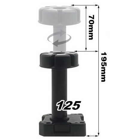 UKE 125 195mm Adjustable Feet Cabinet Foot Circular Plastic Thick and strong Adjustable Furniture Feet PP Black Foot Leg in Furniture Accessories from Furniture