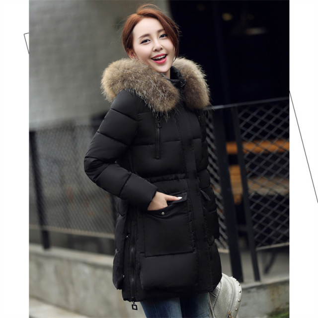 Aliexpress.com : Buy Winter Jacket Women Real Fur Hood Coat 2016 ...