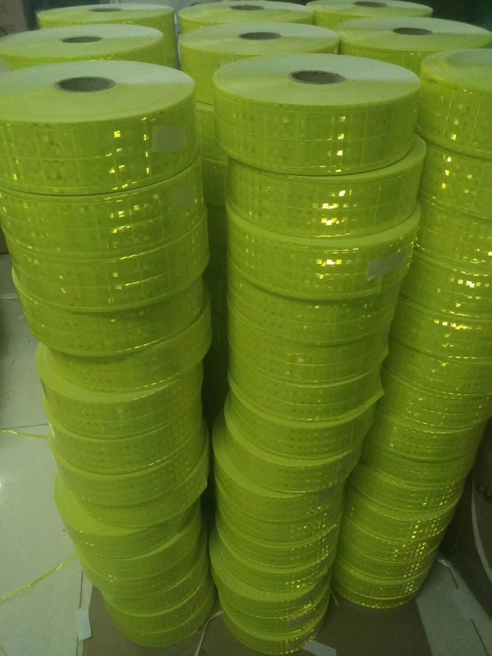 5CM*50M High Visibility Fluorescent Reflective PVC Strip Night Reflective Safety Warning Tape For Clothing