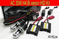 Free Shipping 1set 12V 35w AC Xenon HID Kit H4 Bi Xenon High Low Kit 6000K