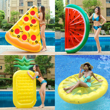 Inflable Swimming Ring Pool Float Gonflable Swimming Mattress Kids Float Bed Inflatable Pool Party Toys Water boia Piscina(China)