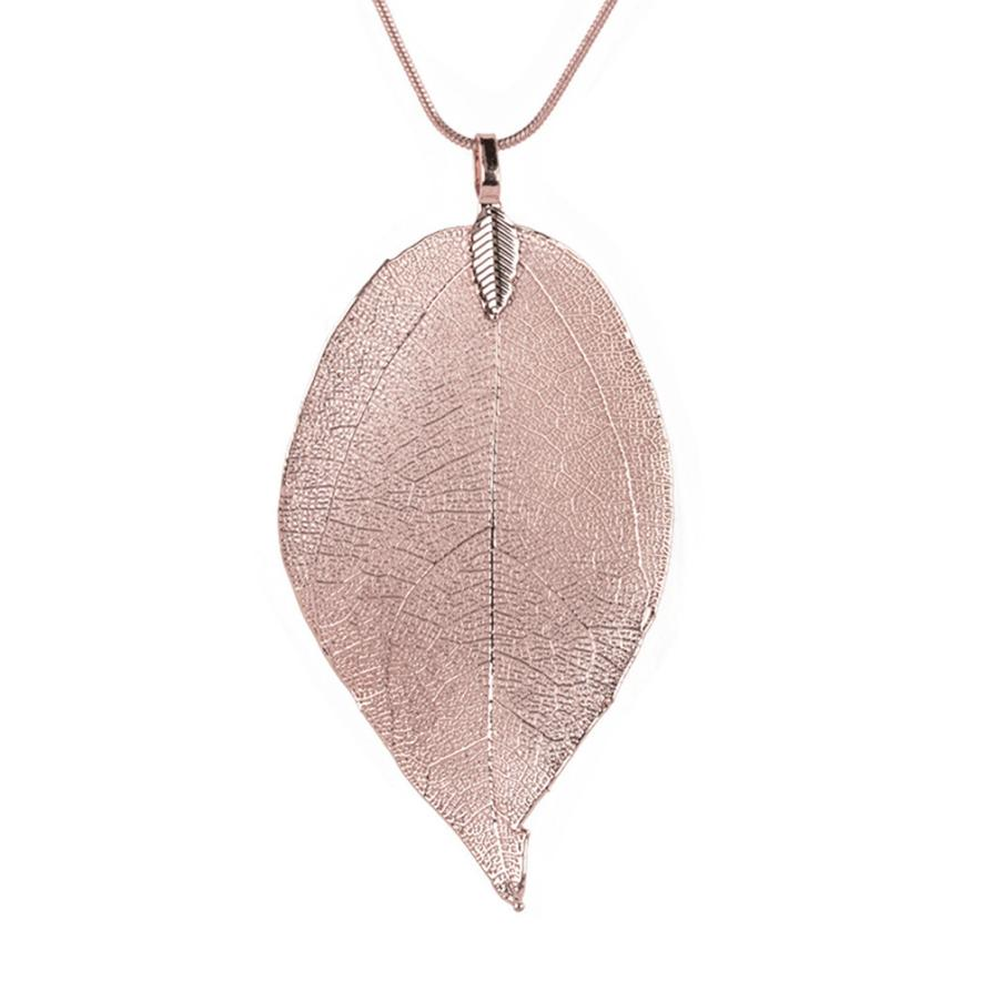 Women Special Leaves Leaf Sweater Pendant Necklace Ladies Long Chain Jewelry Accessories Gift Delicate Dec 11