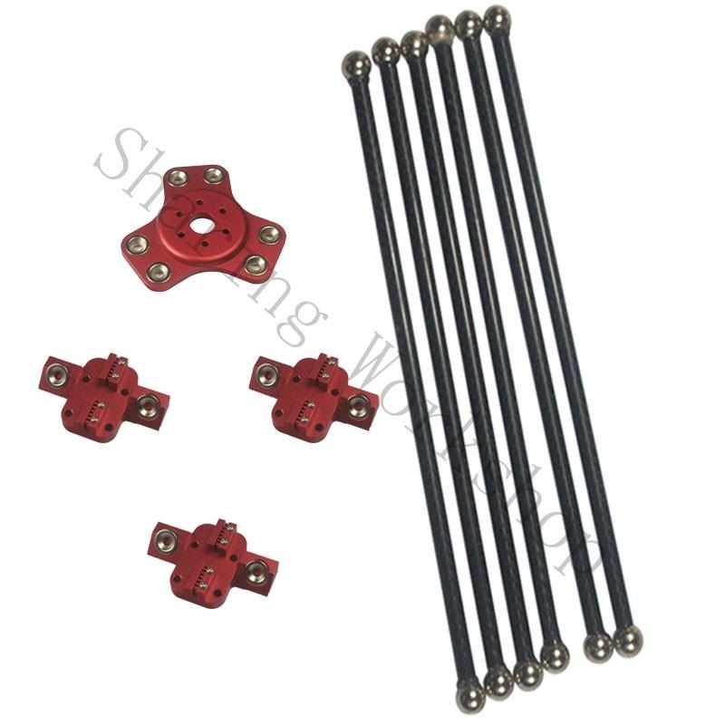 Reprap Kossel XL magnetic effector+carriage+300mm carbon tube Diagonal push rods kit for Delta kossel DIY 3d printer