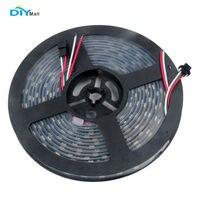 DIYmall WS2812 LED Strip Light 5050 RGB IP67 Waterproof DC 5V 5m 300 LEDs Black PCB