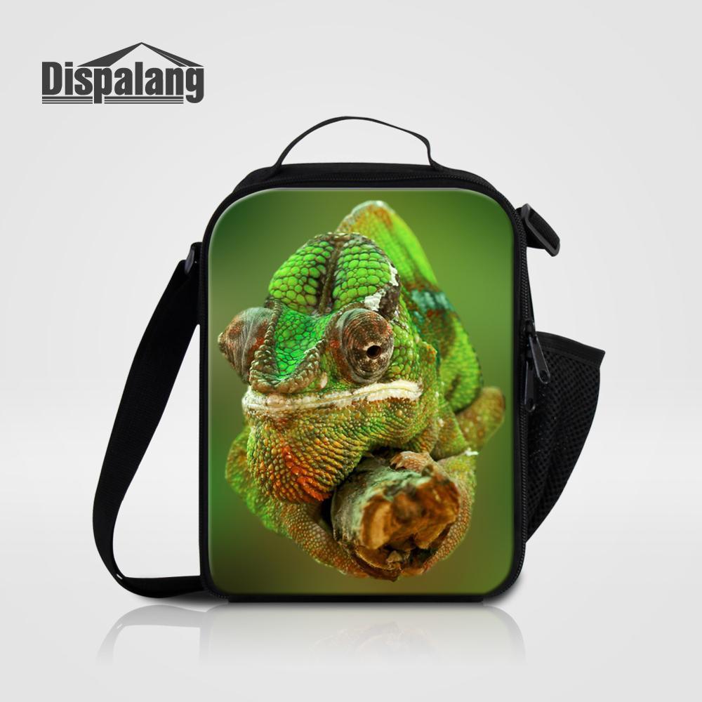 Мужские Термо-холщовые сумки для ланча, лисы, волка, динозавра, змеи, для мальчиков, сумка-холодильник для еды, пикника, Детская маленькая сумка-Ланч-бокс на молнии для школы - Цвет: Lunch Bag06
