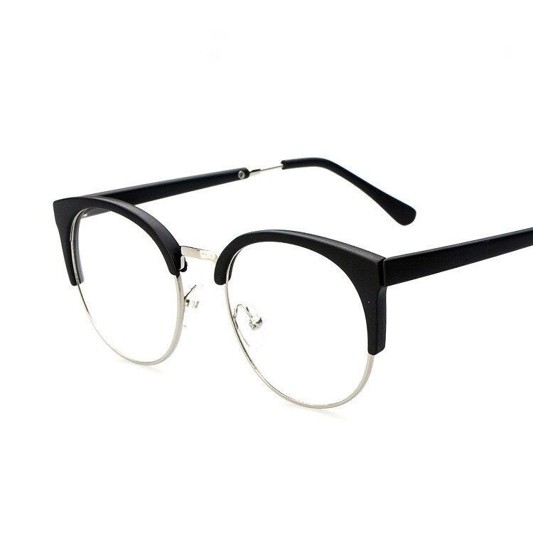 78394c0c5ce www.lesbauxdeprovence.com   Buy Fashion Cat Eye Half rimless Frame Plain  Glasses Vintage
