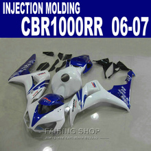 Best plastic Fairings For Honda cbr 1000rr 06 07 Cbr1000rr 2006 2007 ( Blue white ) fit Fairing kit C48