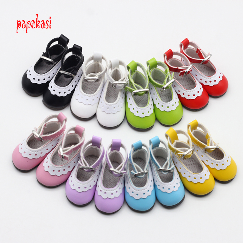 5cm PU Leather Doll princess Shoes for BJD Dolls Lace Canvas Mini font b Toy b