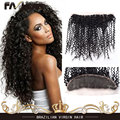 "New Brazilian Virgin Human Hair Lace Frontal Closure 13""X4"" Deep Curly Bleach Knots Virgin Lace Frontal Closure Curly Weave Hair"