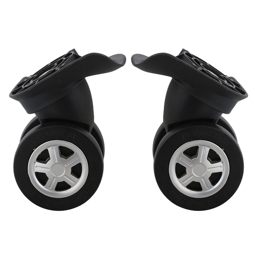 2 Pieces Black Luggage Replacement DIY Swivel Casters Wheels