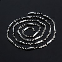 2 Meter Lot Silver Tone Chain Necklace For Men Women Stainless Steel Chain Wholesale Chain Jewelry