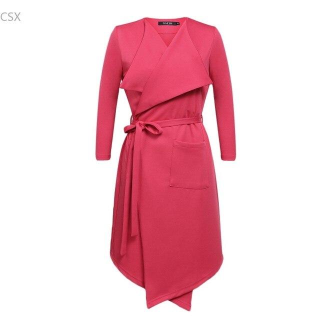 Мода Марка Осень-Весна Женщины Длинные Плащ С Поясами Runway Подиум Плюс Размер Двойной Брестед Ветровка 22 P