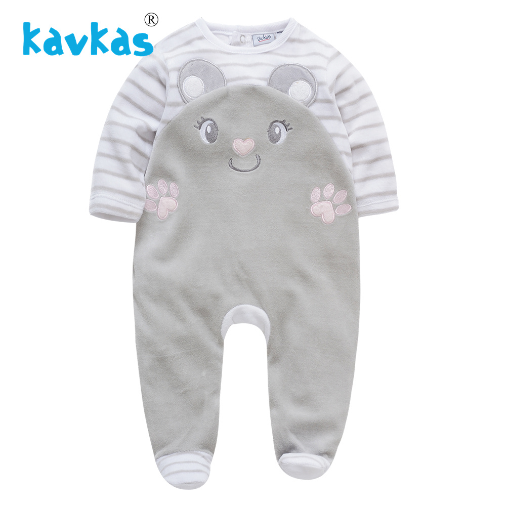 8d0fb116a1023 Kavkas Baby Girl Winter Clothes Solid Color Outfits Newborn Baby Boys Long  Sleeve Warm Knitted Rompers