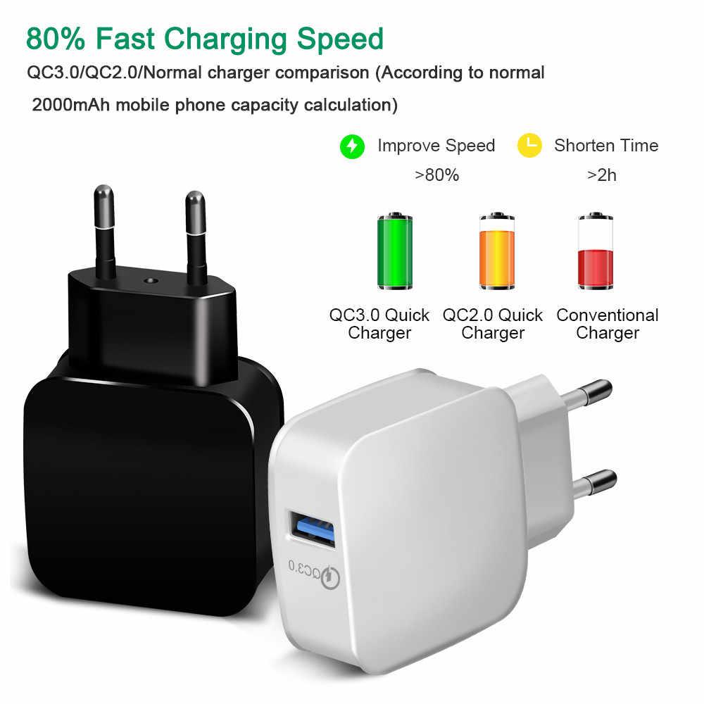 Chargeur USB charge rapide 3.0 pour iPhone X 8 7 iPad chargeur mural rapide pour Samsung S9 Xiaomi mi 8 Huawei chargeur de téléphone portable