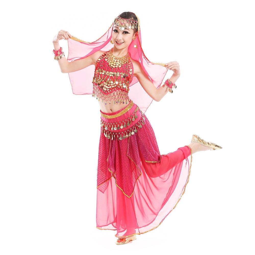 Belly Dance Costume Set for Kids Girls Children Belly Dance Skirt Bollywood Dancing Dress Indian Bellydance Cloth Set индийский костюм для танцев девочек