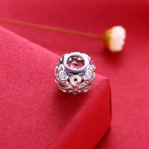 Image 4 - Video! Chinese knot 925 Sterling Silver beads charms fit Bracelets Never change color DDBJ103