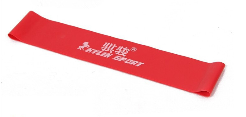 roter latex widerstand workout übung pilates yoga bands schleife handgelenk knöchel elastischer gürtel energie ring für freeshipping