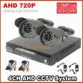 Высокое качество цифровой 4 канала H.264 HD 720 P ахд камеры комплект видеонаблюдения камеры видеонаблюдения системы день и ночь мониторинг