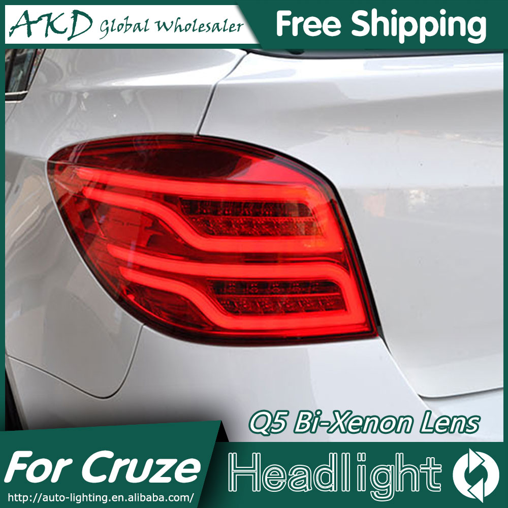 AKD Car Styling for Chevrolet Cruze Tail Lights Cruze Hatch Back LED Tail Light LED Rear Lamp DRL+Brake+Park+Signal автокресло peg perego peg perego автокресло viaggio 1 duo fix k rouge