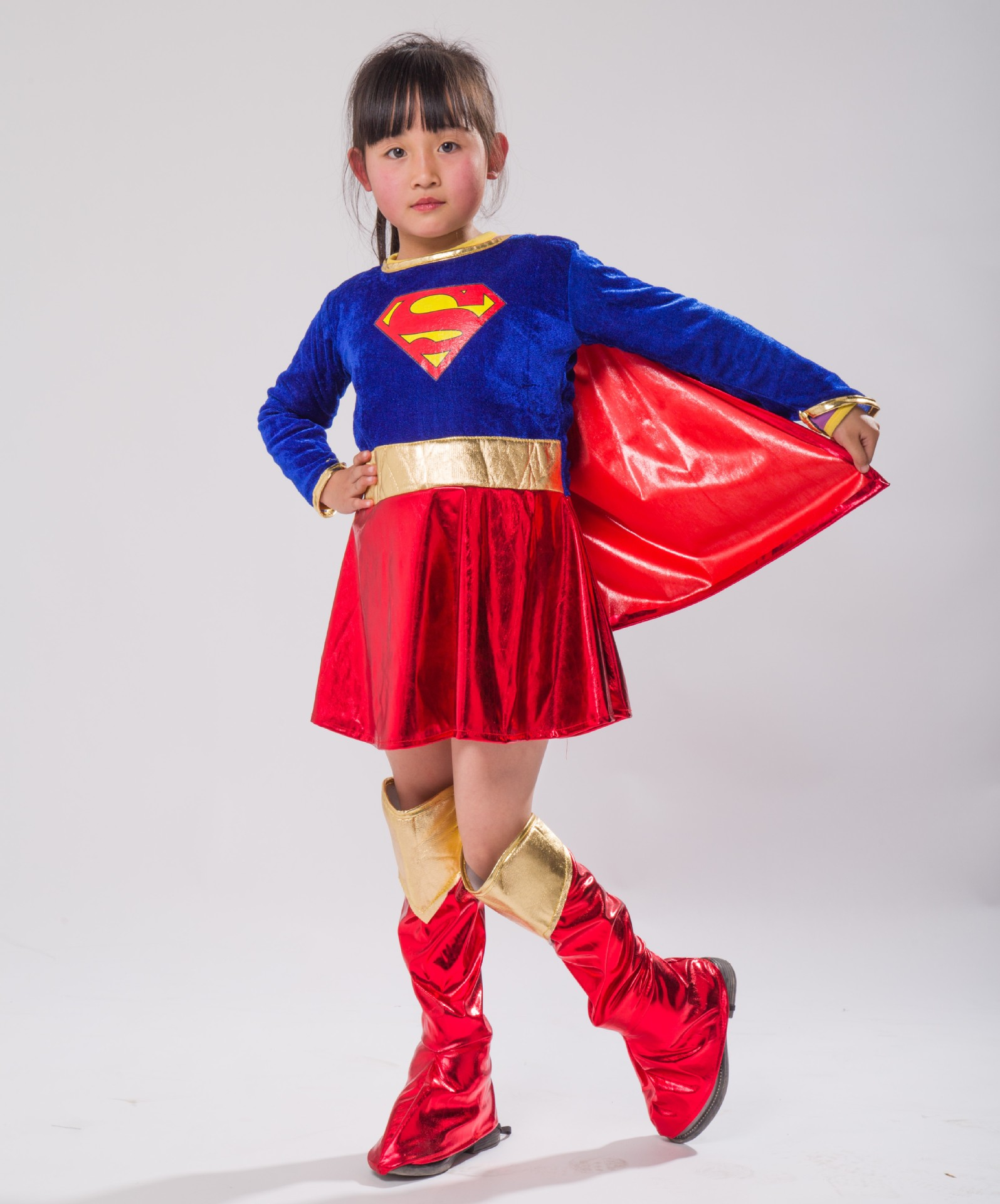 Halloween Costume For Kids Super Girl Superman Supergirl -2813