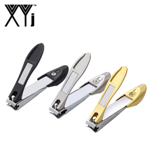 XYj New Design Nail Clipper Stainless Steel Trimmer with File Durable Sharp Fingernail Cutter Toenail Clippers Catcher