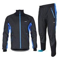 ARSUXEO 2014 Winter Warm Up Thermal Cycling Bike Bicycle Jacket Pant Uniform Bib Pad Windproof Waterproof