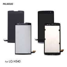 LCD Display For LG Leon H340 H345 H340N H324 MS345 Touch Screen Digitizer Assembly Replacement Black White No/with Frame недорго, оригинальная цена