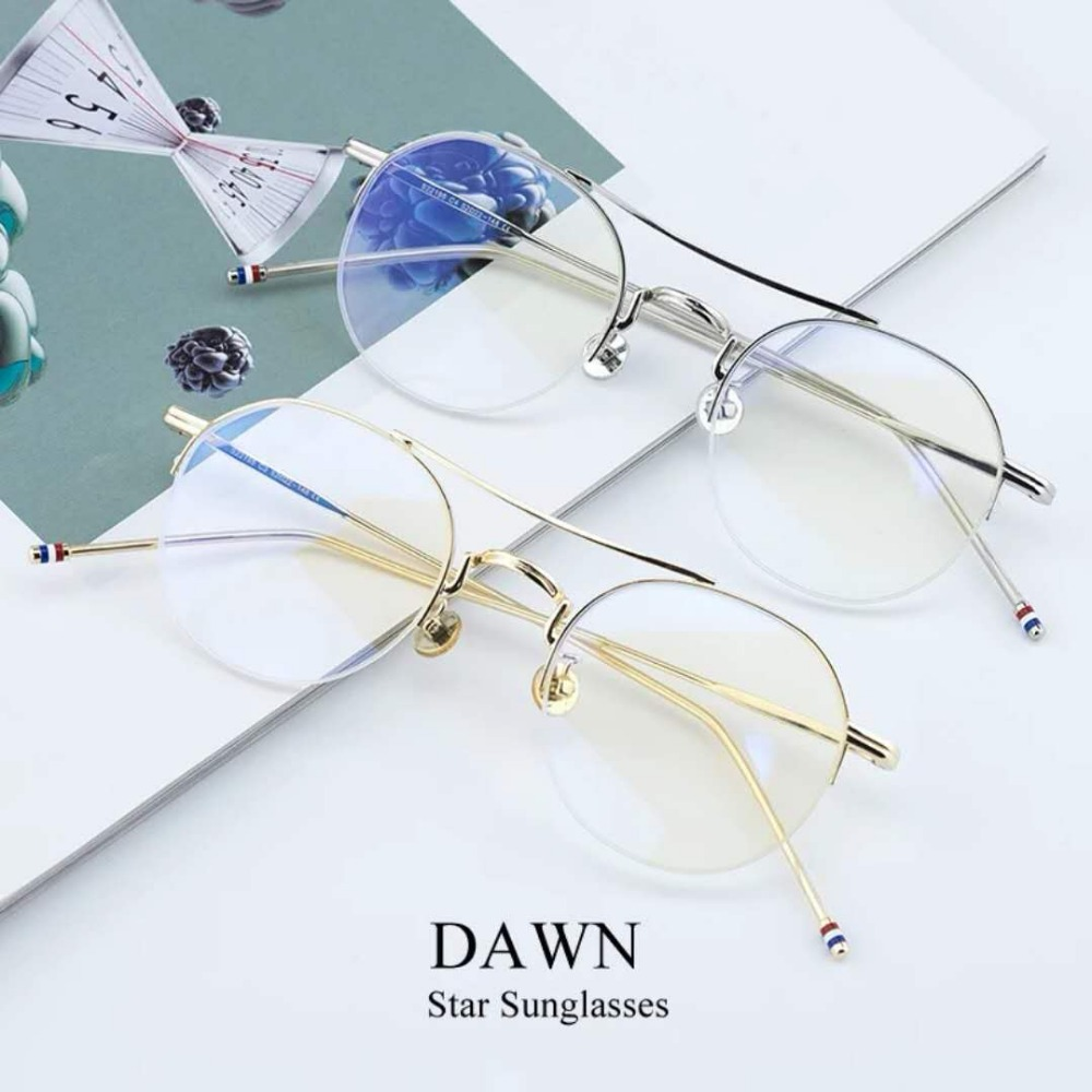 TF573 Women Fashion trend Round Glasses Lens Sunglasses Eyewear Frame GlassesWomen