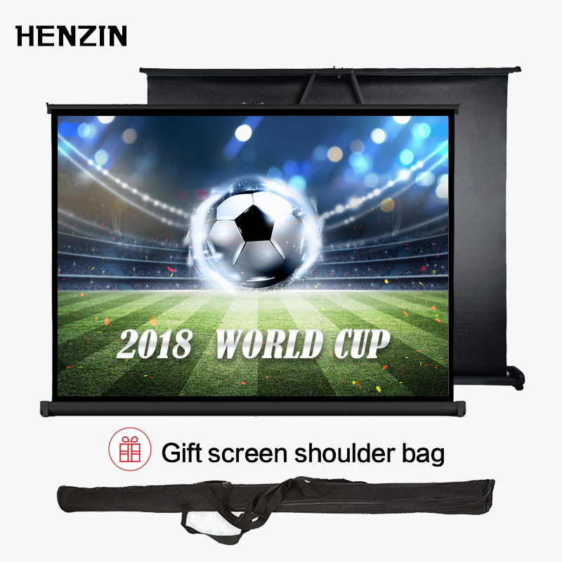40 Inch 4:3 Mini Portable Tabletop Projector Screen Matte White Foldable Table Projection Screen For Office Business Training