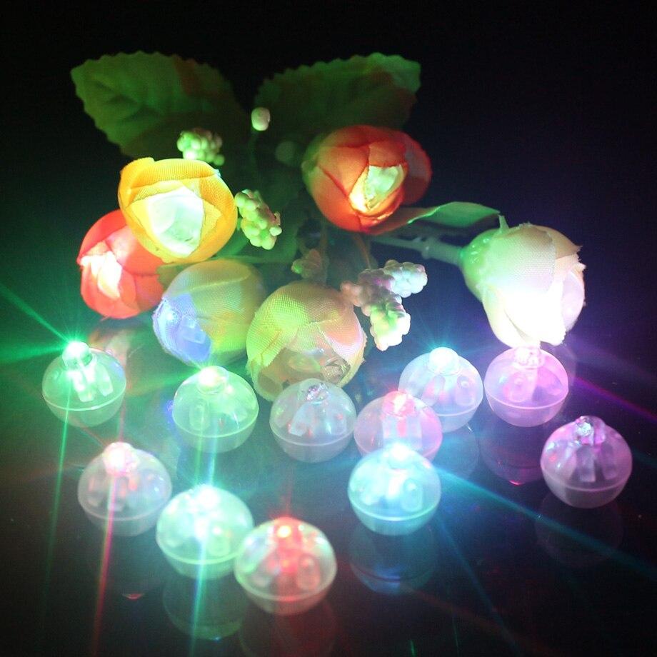 1000 Pcs Lot Round Shape RGB Mini Led Flashing Ball Lamps White Balloon Lights for Christmas
