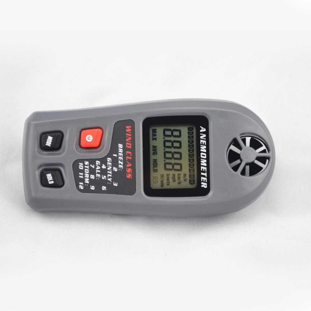 MT-20 Digitale Anemometer Grote LCD Display Wind Meter 30 m/s Anemometer Draagbare Hand-held Measure Tool