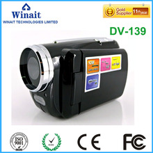 "HD 12MP mini gift digital video camera with 1.8"" TFT display and 4x digital zoom digital video camcorder free shipping"