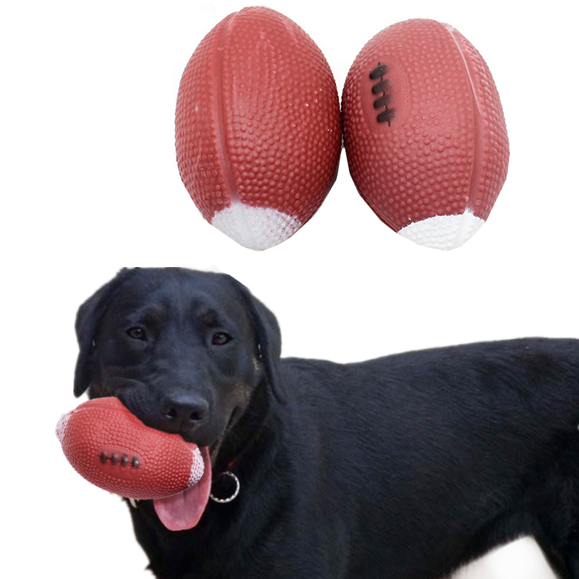 Nerf Dog Rugby Ball: Dog Toys For Small Large Dogs 1 PC Pet Squeak Ball Toys