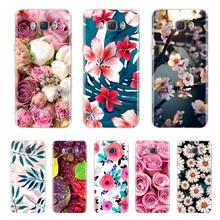 Flower Phone Case for Samsung Galaxy J7 2016 Case Silicone W