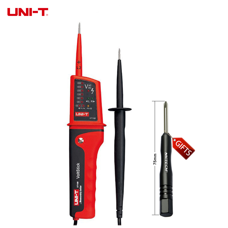 UNI-T UT15B IP65 Waterproof Multifunction Voltage Detectors Voltage Testing Pen Meters Beeper and LED Light Indicator  цены
