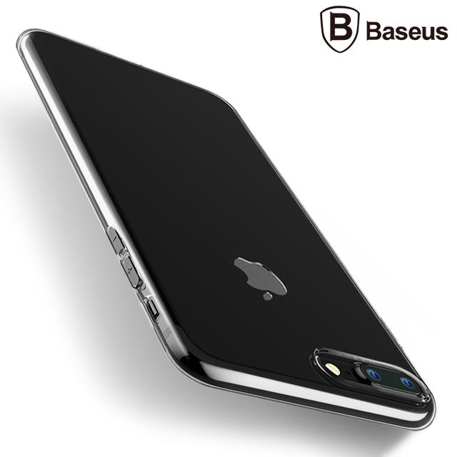 Simple Transparent and Glossy Ultra-Thin Soft Case for iPhone 7 7 Plus (TPU iPhone Case) by Baseus 1