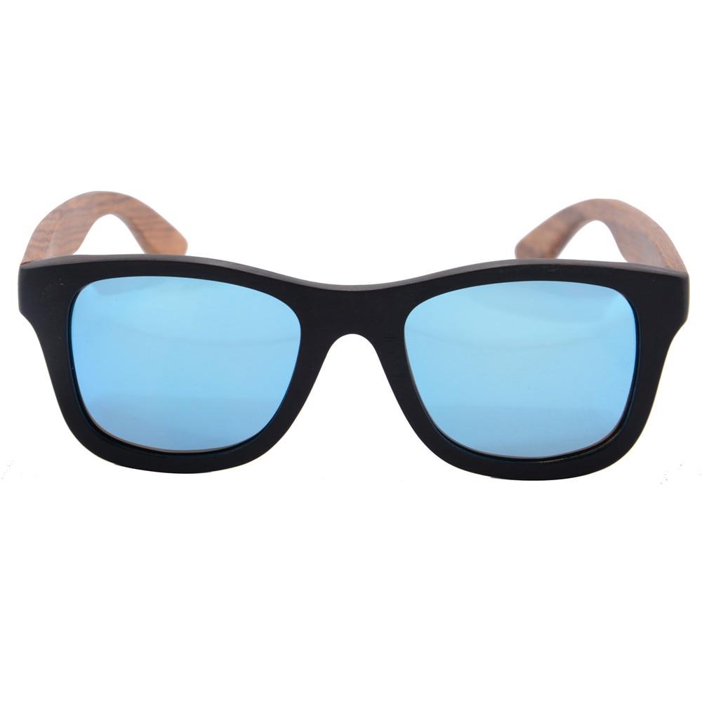 Polarisierte Ebenholz Sonnenbrille In Schwarz & Blau 7x0JFRy