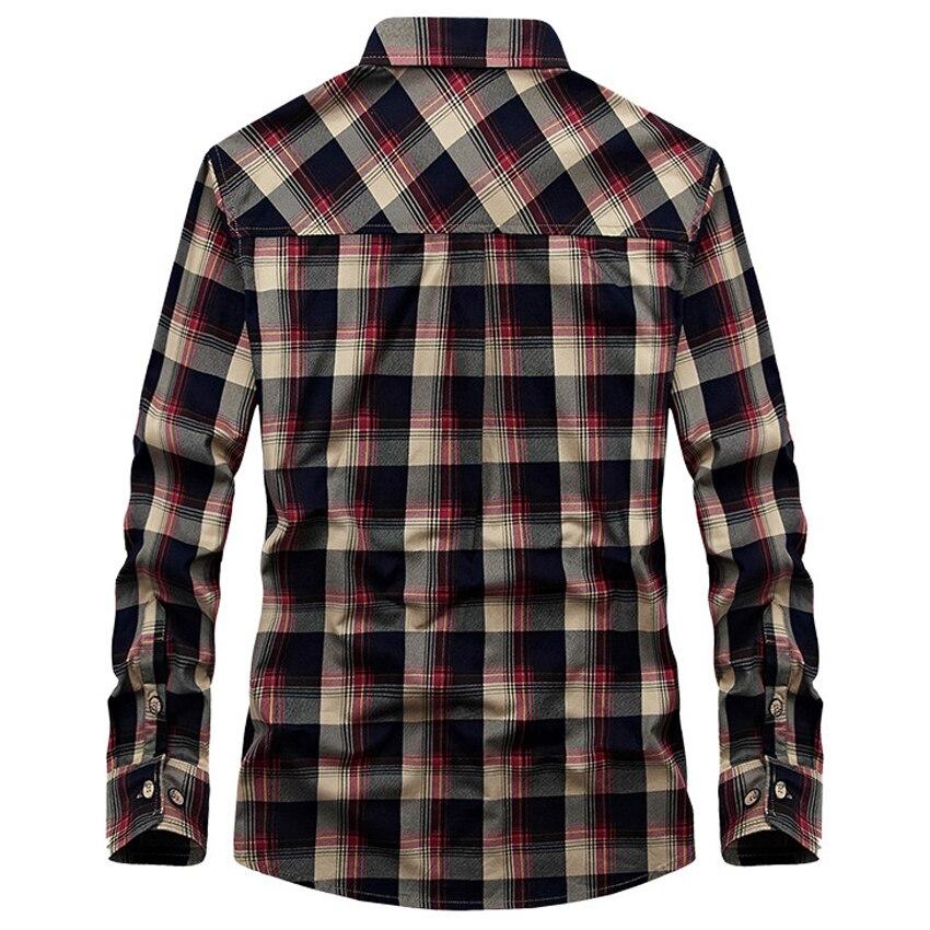 Frete grátis Mens Camisas Xadrez Outono Casual Manga Comprida Homem Camisas  de Algodão Camisas de Vaqueiro Ocidental Campo 72hfx Verde vermelho em  Camisas ... c873e6d7a70
