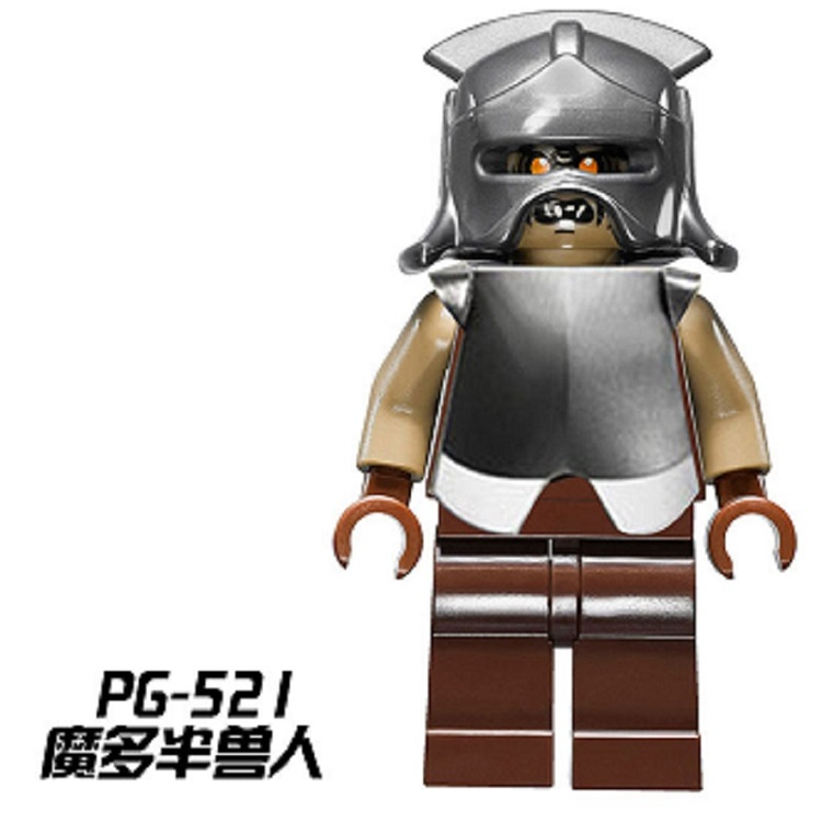 20Pcs Mordor Orc Lord of The Rings Battle at The Black Gate Bricks Action Building Blocks Toys For Children PG521