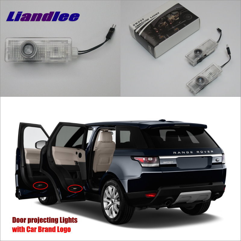 Liandlee Car Door Ghost Shadow Lights For Land Rover Range Rover 2010~2014 Courtesy Doors Lamp / LED Projector Welcome Light