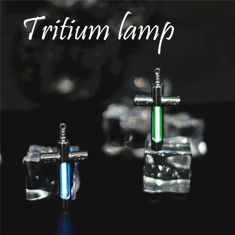 25 Years Self-luminous Tritium Gas Tube Keychain Outdoor EDC Multi-color Selection Emergency Lights