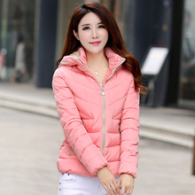 Snow wear wadded jacket female 2015 autumn and winter jacket women slim short cotton-padded jacket outerwear winter coat women цена 2017