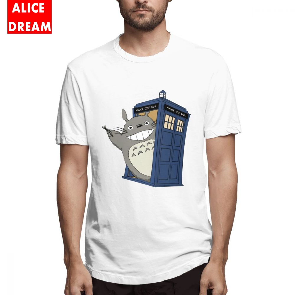 MenMan My Neighbor Totoro T shirt Doctor who Tee shirt New Camiseta Round Collar S 6XL Plus Size Tee in T Shirts from Men 39 s Clothing