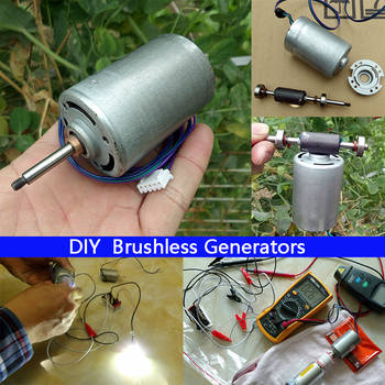 Brushless DC motor high-performance power generation DIY wind power, water power generation, manual power generation фото