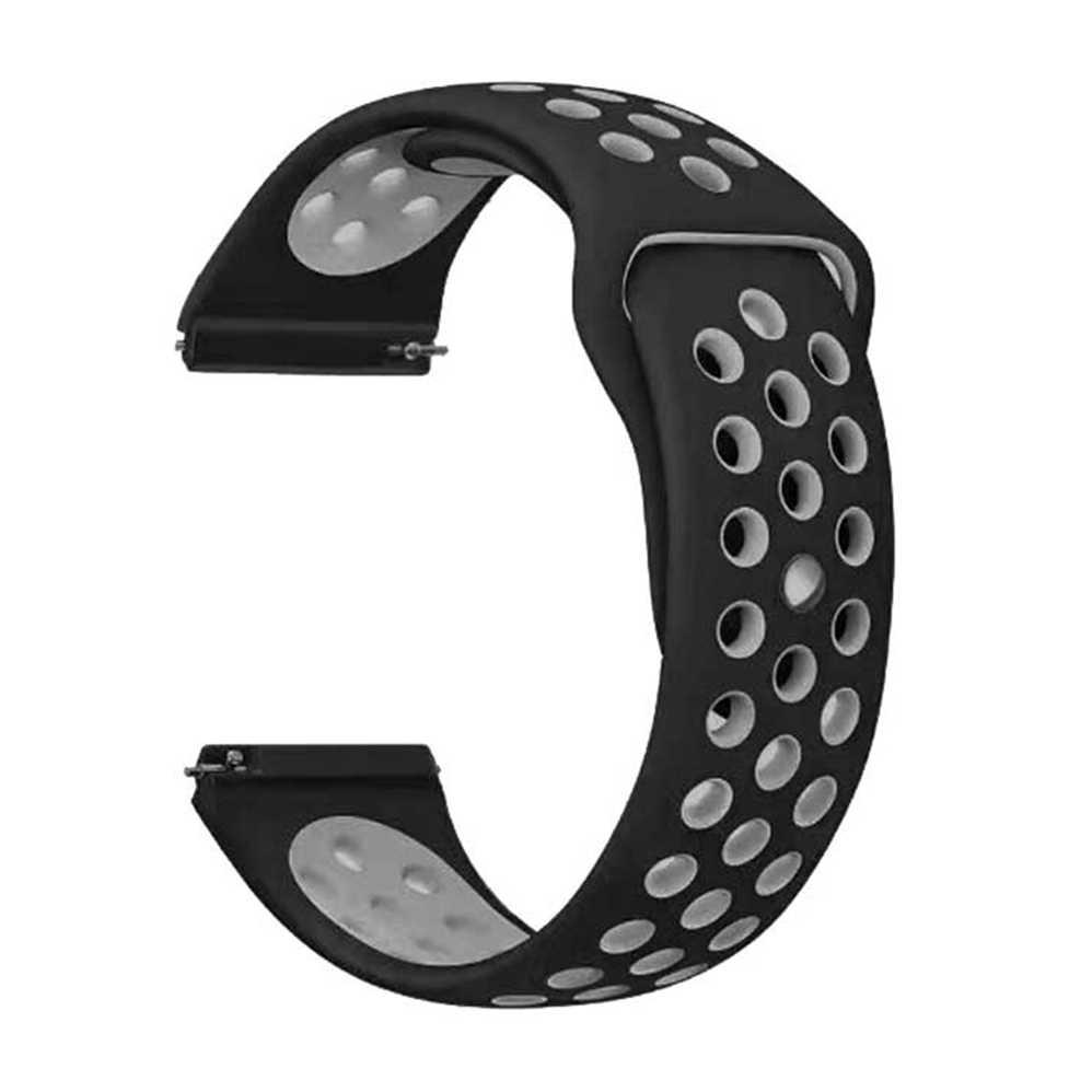 20mm 실리콘 스트랩 삼성 기어 스포츠 s2 s3 클래식 프론티어 시계 밴드 huami amazfit 페이스 bip 비트 라이트 화웨이 시계 2