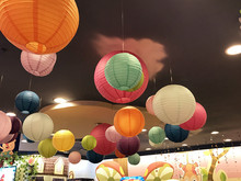 ( 10 Pcs / lot )  Chinese Lantern round paper lamp Wedding decoration festival birthday party supplies wedding Marriage