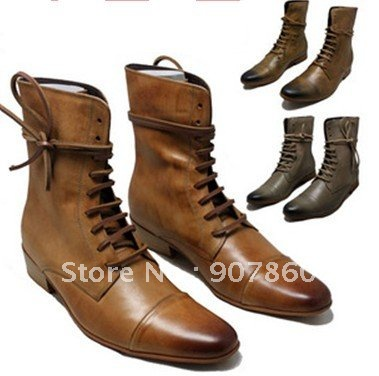1ac73b4c135a free shippng Pointed leather high-top boots men dress shoes men s boots